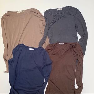 Lot of 4 Michael Starts Long Sleeve Shirts